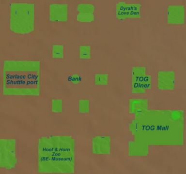 city Map of Sarlacc City with TOG Mall
